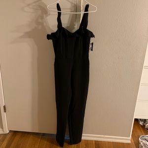 Black formal ruffle jumpsuit